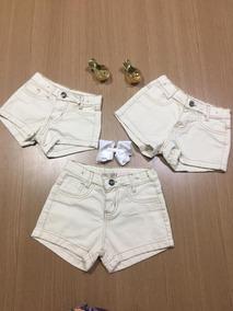 Roupa Menina Infantil Short Jeans C/ Regulagem De Cintura &