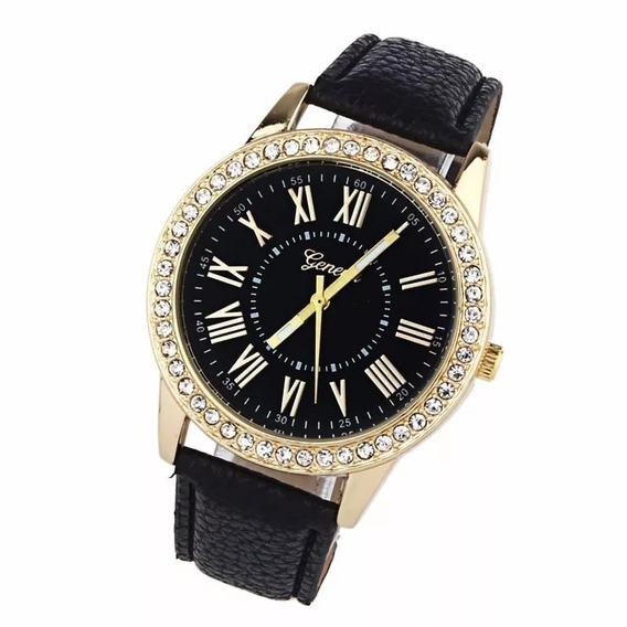 Relógio Feminino Preto Casual Barato - Preço Promocional