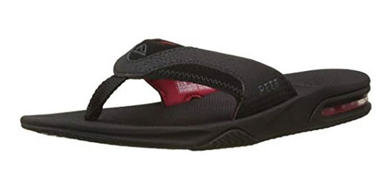 Reef Ojotas Fanning All Black/red 2026 (3095)