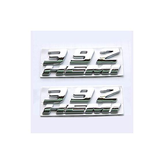 Yoaoo 2 Set Oem Chrome 392 Hemi Emblem Badge Aleación Calcom