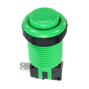 Botão Fliperama Arcade + Microswitch + Rosca Verde