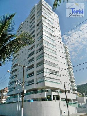 Apartamento Em Praia Grande, 02 Dormitórios, Sala Com Varanda Gourmet Com Vista Pro Mar, No Bairro Solemar Ap 2034 - Ap2034