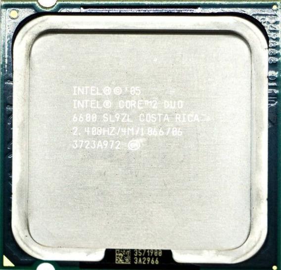 Processador Intel Core2duo E6600 2.4ghz 775 Oem (semi Novo)