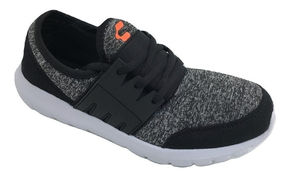 Tenis Charly Mujer Deportivo Casual Run 1044375 Textil Negro