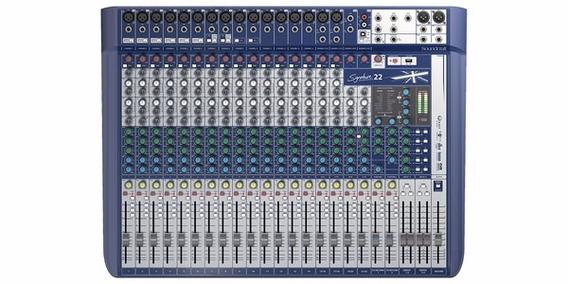 Mesa De Som Soundcraft Signature 22 Bivolt - Mixer 22 Canais