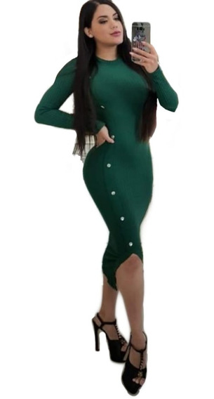 Vestido Verde Corte Chanel