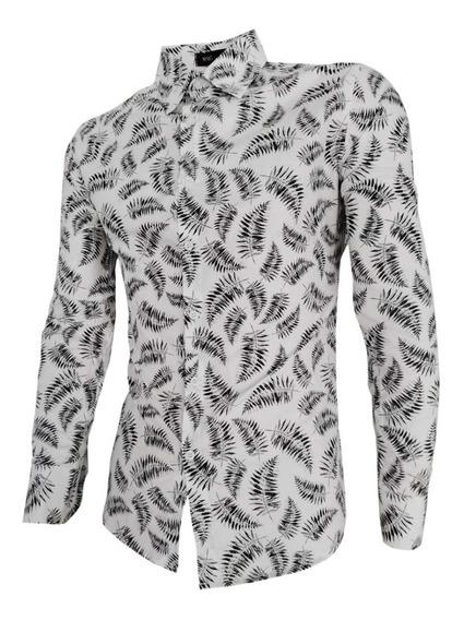 Camisa Havaiana Floral Camiseta Masculina Verão