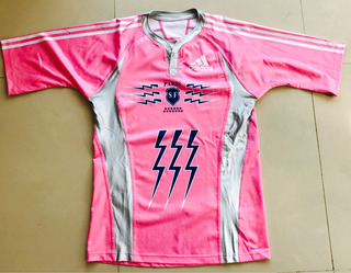 Camiseta adidas Stade Frances Rugby Color Rosa Talle Large