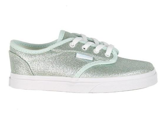 Zapatilla Vans Nena Atwood Low Glitter Blancas