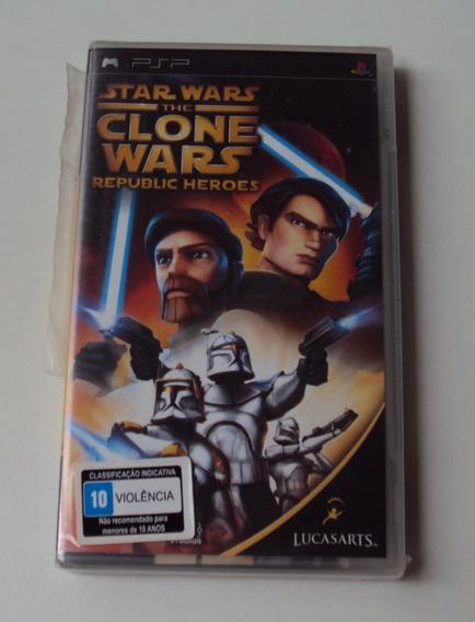Star Wars The Clone Wars - Republic Heroes Lacrado Para Psp