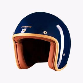 Capacete Lucca Custom O. School Glossy Azul Com2 Viseiras