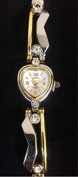 Relógio Feminino Cadina Branco Produto De Mostruário 003