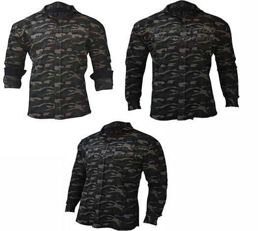 Camisa Manga Larga Camuflada Tactica Combate Ejercito