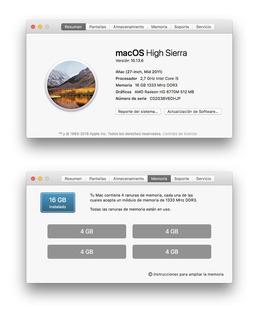 iMac 27 Mid 2011 2,7 Ghz Core I5 16gb Amd Rad Hd6770m 512mb