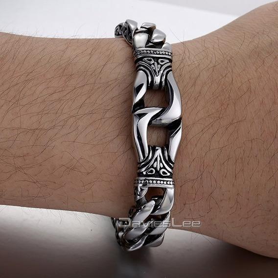 Bracelete Corrente Aço Inox