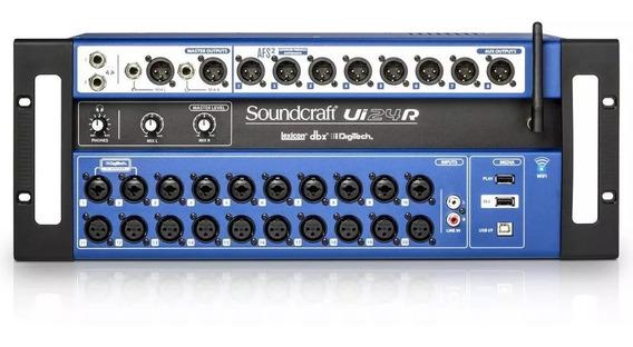 Mesa De Som Soundcraft Ui 24 R Usb 24 Canais Ui24r Wi-fi