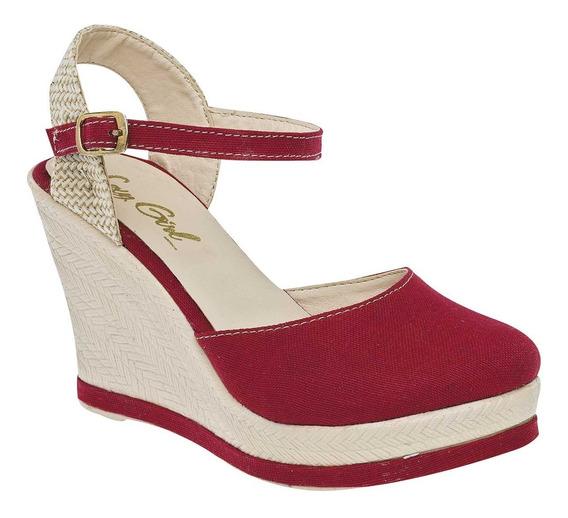 Huarache Dama Sexy Girl 1553 Plataforma 10cm Rojo 067-013 T3