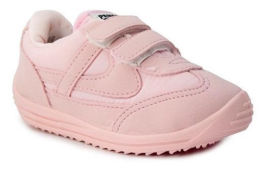 Tenis Bebé Niña Panam 084 Rosa Vlecro Comodo Casual