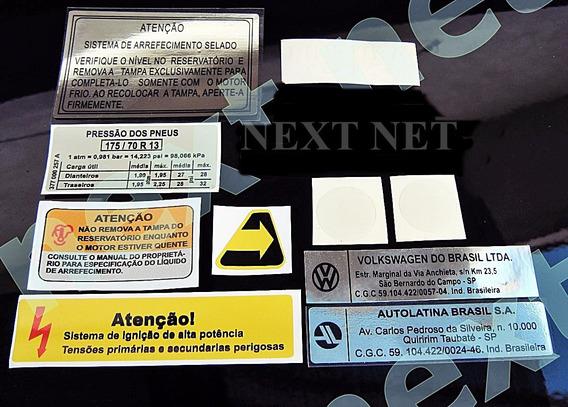 Quadrado Gol Passat Saveiro Etiqueta Tecnico Motor Capo [i