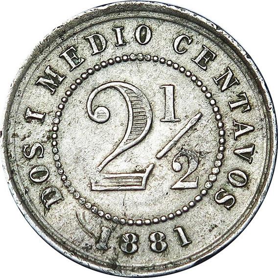 .: Colombia 1881 2 1/2 Centavos :.