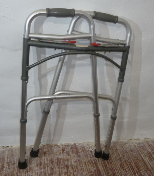 Andador Andadera Plegable De Aluminio Ajustable De 2 Botones