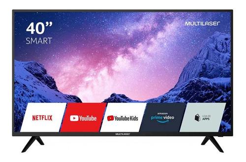 Imagem 1 de 4 de Smart Tv Multilaser 40 Fhd Lcd Wifi Usb Conversor Digital