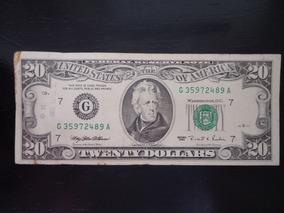 Nota Cédula 20 Vinte Dolar 1995 Letra G Usa Americano Rara