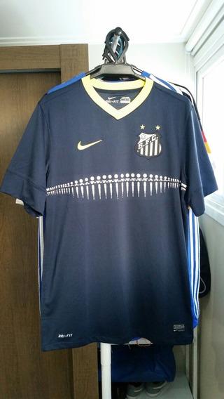Camisa Azul Santos 2013 Nike #10 Gabigol