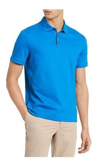 Playera Tipo Polo Calvin Klein De Caballero Victoria Blue