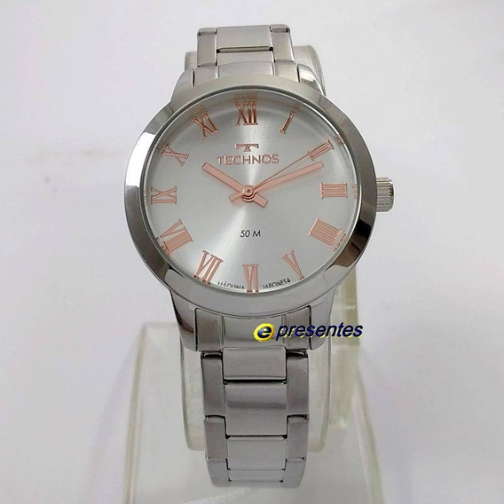 Relógio Technos Prateado Elegance Boutique 2035mkv/1k
