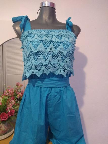 Jumpsuit Azul Claro Artesanal