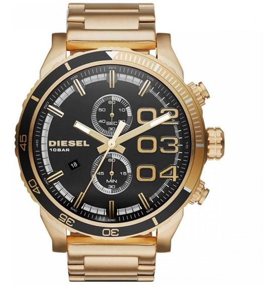 Relógio Diesel Masculino Double Down Cronógrafo Dz4337/4pn