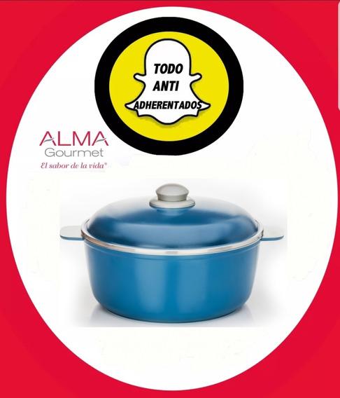 Cacerola De 28 Cm Aluminio Alma Gourmet Envio Gratis