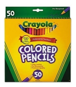 Lapices Crayola Largos 6 Blister De 50 Unidades C/u