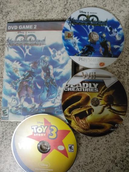 Kingdom Hearts Chain Of Memories Ps2 + 2 Jogos De Wii