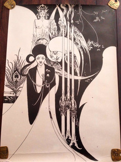 Póster Vintage 1975 Estilo Art Nouveau Aubrey Beardsley