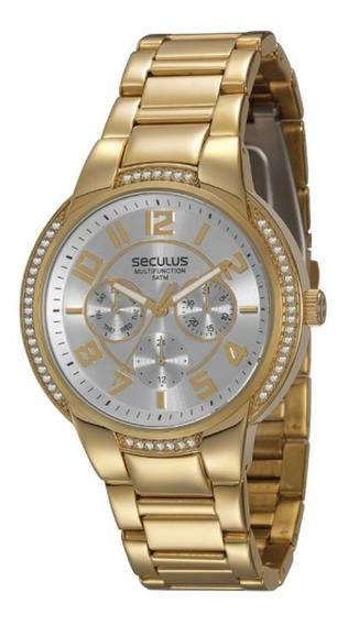 Relógio Seculus Feminino Multifunction Analógico 28335lpsgds