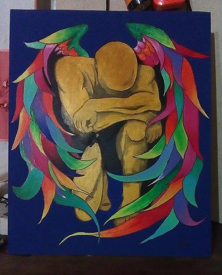 El Angel Cuadros Pintados Por La Art Plástica Ana Glave