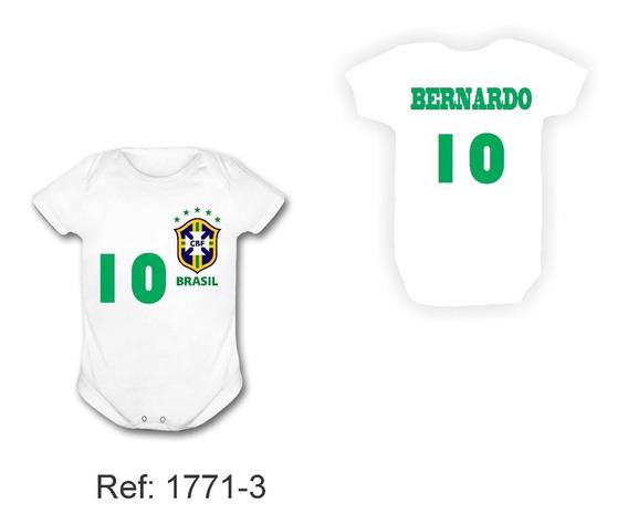 Body Brasil Copa Do Mundo 2018 Mascote Russia Frente E Atras