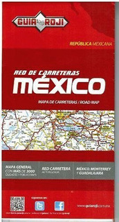 Red De Carreteras De Mexico (mapa De Bolsillo Rep.mexicana)