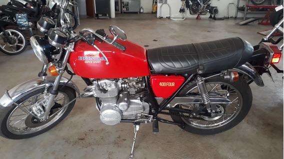 Honda Cb 400 Four Super Sport 1975 Vermelha Original