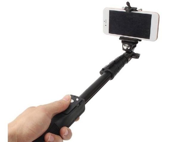 Bastão Selfie Monopod Profissional Com Bluetooth Retrátil