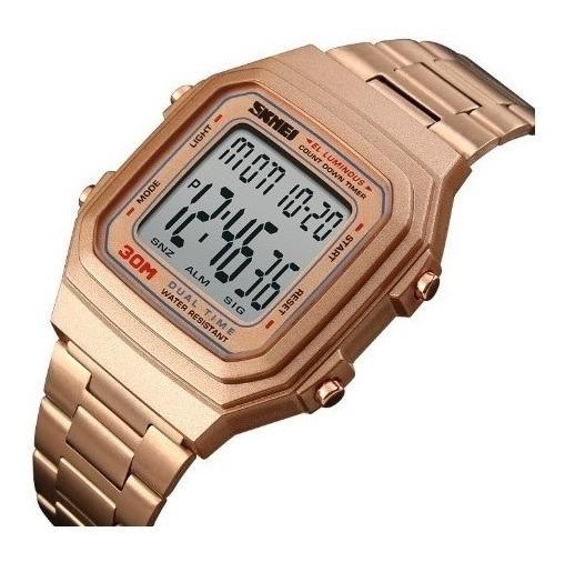 Relógio Skmei 1337 Masculino Digital Social Similar Casio Quadrado
