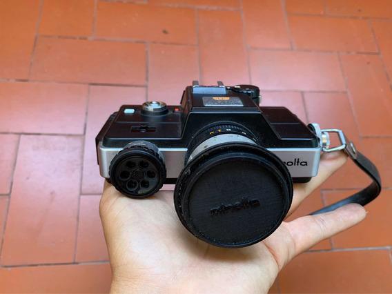 Máquina Fotográfica Minolta Zoom Slr Com Tampo De Lente