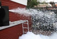 Alquiler Maquina Nieve Humo Bajo Vertical Burbujas Luces Dj