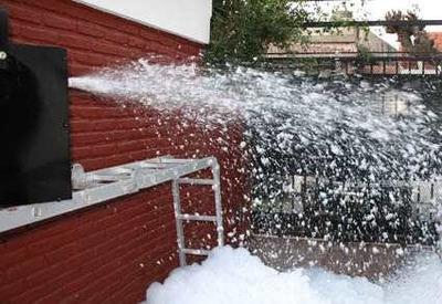 Alquiler Maquina Nieve Humo Lanza Papel Burbujas Luces Dj