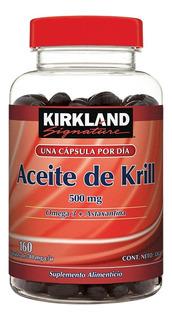 Aceite De Krill Omega 3 + Astaxantina Kirkland Frasco C/160