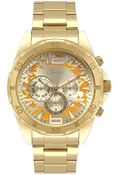 Relógio Condor Masculino Civic Dourado Cojp25aa/4d