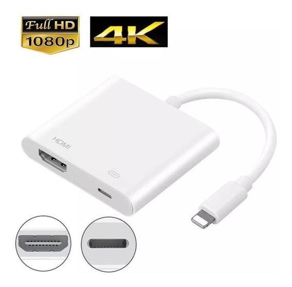 Cabo Conversor Lightning Av Tv Hdmi Adaptador Chromecast