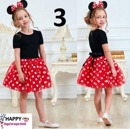 Vestido Infantil Vermelho 3 A 4 Anos